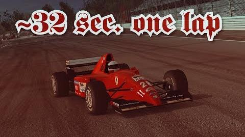TC Monza junior laps Ferrari 412 T2 ~32 sec per lap (best lap 30sec