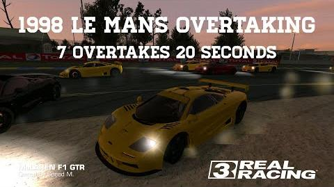 Real Racing 3 1998 Le Mans Overtaking Challenge 7 Overtakes 20 Seconds RR3