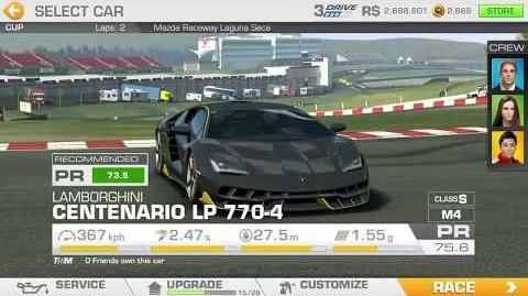 Lamborghini's Legacy, Stage 3 Race 3, Upgrades 3232122