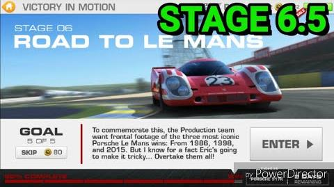 Victory in Motion; Stage 6