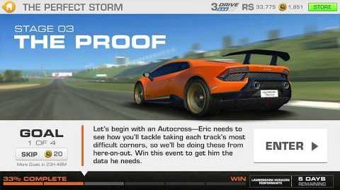 The Perfect Storm, Stage 3 Race 1 (7 upgrades, 1111111)