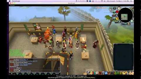 RS Runescape My Kingz trimmed Completionist cape party gathering