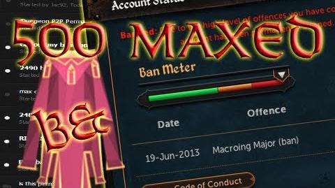 ~500 MAXED Players PERMANENTLY Banned!