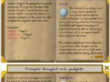Temple Knight Orb Gadgets (Book)