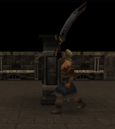 Thok with his sword