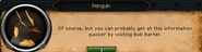 Penguin working for the grand exchange.