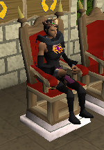 Rachel on throne
