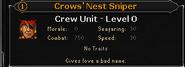 Crows nest sniper