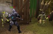 Goblin village fight.
