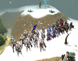 Falador, Entrana, Ardougne at Battle of White Wolf Mountain