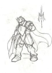 Lord metal knight, the drawing