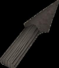 Iron knife detail