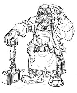 Dwarf blacksmith sketch by icequakedesign-d4jjq97