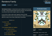 Renderra family Wiki page