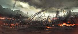 A battlefield by artcobain-d34e30q