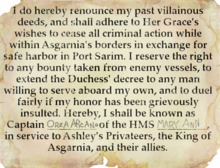 Letter of Marque Orza