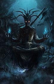 Taleas Leotrun-Silverkin, the Dark Lich
