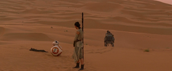 Rey encounters BB-8