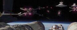 Rebel fleet on Scarif