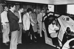 George Lucas playing video game