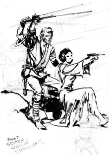 First Sketch of Classic Star Wars