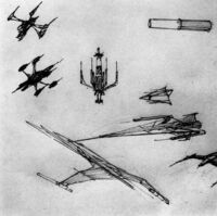 X-wing concept sketches