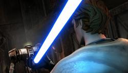 Anakin beheads droid