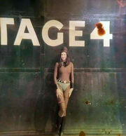 Angela Staines on the backlot