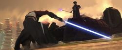 Хондо сражается со Скайуокером