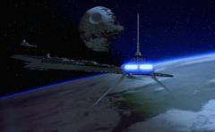 Tydirium approaching Executor RotJ