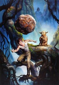 Telekinesis at Dagobah by Boris Vallejo