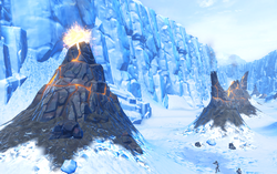 Hoth volcanoes