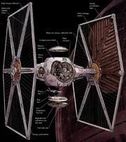 Схема истребителя TIE