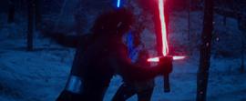 Finn duels Kylo Ren