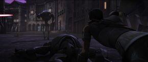 Saw dodges battle droids