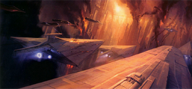 Coruscant battle ArtROTS