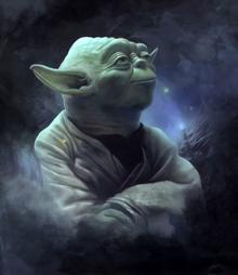 Yoda v tumane EotE