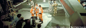 Filming in the Yavin IV base