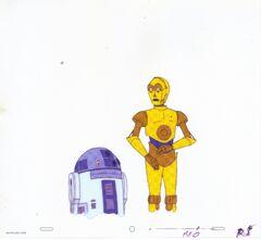 R2-D2 C-3PO celluloid cell 1984