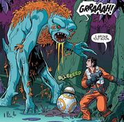A creature attacks Poe & BB-8.JPG