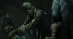 Chewbacca captures slaver