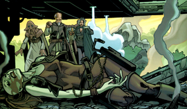 Tikkes and Jedi and Aurra unconscious