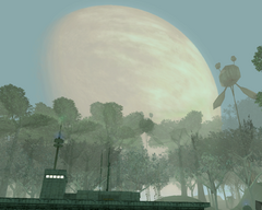 Yavin Prime in the sky SWG