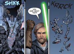 Люк обезоруживает Кардо и Траджена