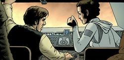 Han Leia argue at-at