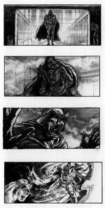 Darth Vader storyboard Tavoularis