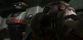 Тренч и тактический дроид