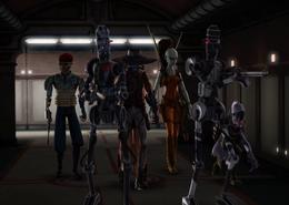 Bounty hunters in the Senate Annex