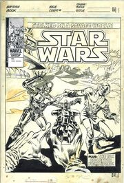 Star Wars Weekly (UK) Issue 62 cover bw