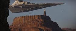 Dauntless over Jedha